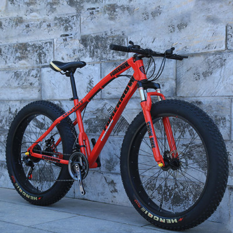 Beach Snow Mountain Bike Variable Speed 24/26 Inches 21 24 27Speed For Adults Bicycle 40 Knife Off-road 4.0 Big Tyre Wide Tyre