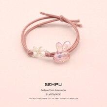 High Elastic Rope Adult Hair Bands For Womens Cartoon Cute Rabbit Rubber Tight Scrunch Accessories Scrunchie
