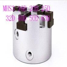 MHS3 16D 20D 25D 32D 40D 50D 63D  Parallel Style Air Gripper 2 Finger Rotating Double Act Jaw Cylinder Bore 16-63mm