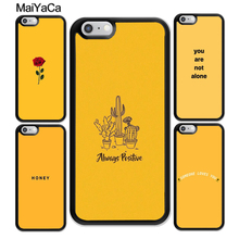 MaiYaCa Yellow aesthetic Printed Rubber Mobile Phone Cases For iphone XR XS MAX 11 Pro X 6 6S 7 8 Plus 5 5S Back Cover Shell