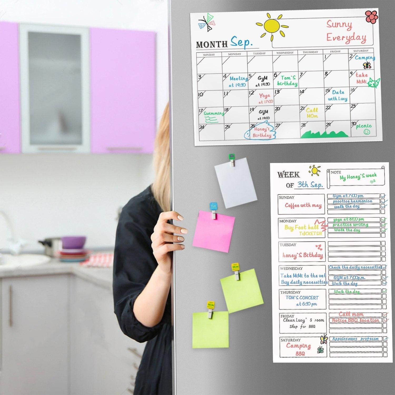 Magnetic Monthly Calendar For Refrigerator : Board calendar magnetic dry erase monthly refrigerator magnet