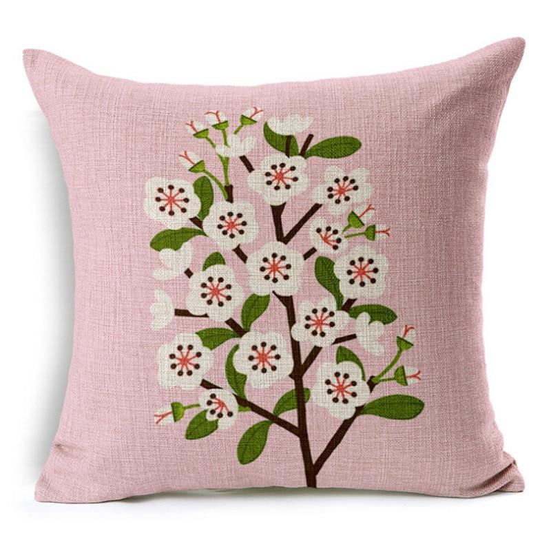 Peach blossom Cushion Home Decor Cushion Linen Decorative