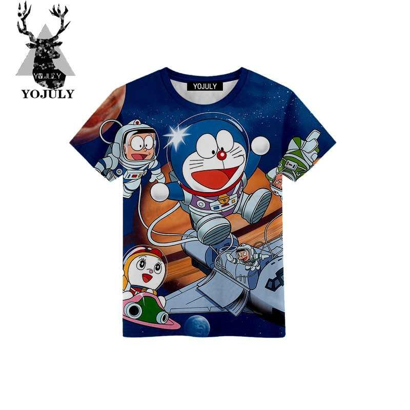 872454667 YOJULY 2019 New Boys girls Fashion Anime Doraemon 3D Print T-Shirt For  Summer Casual