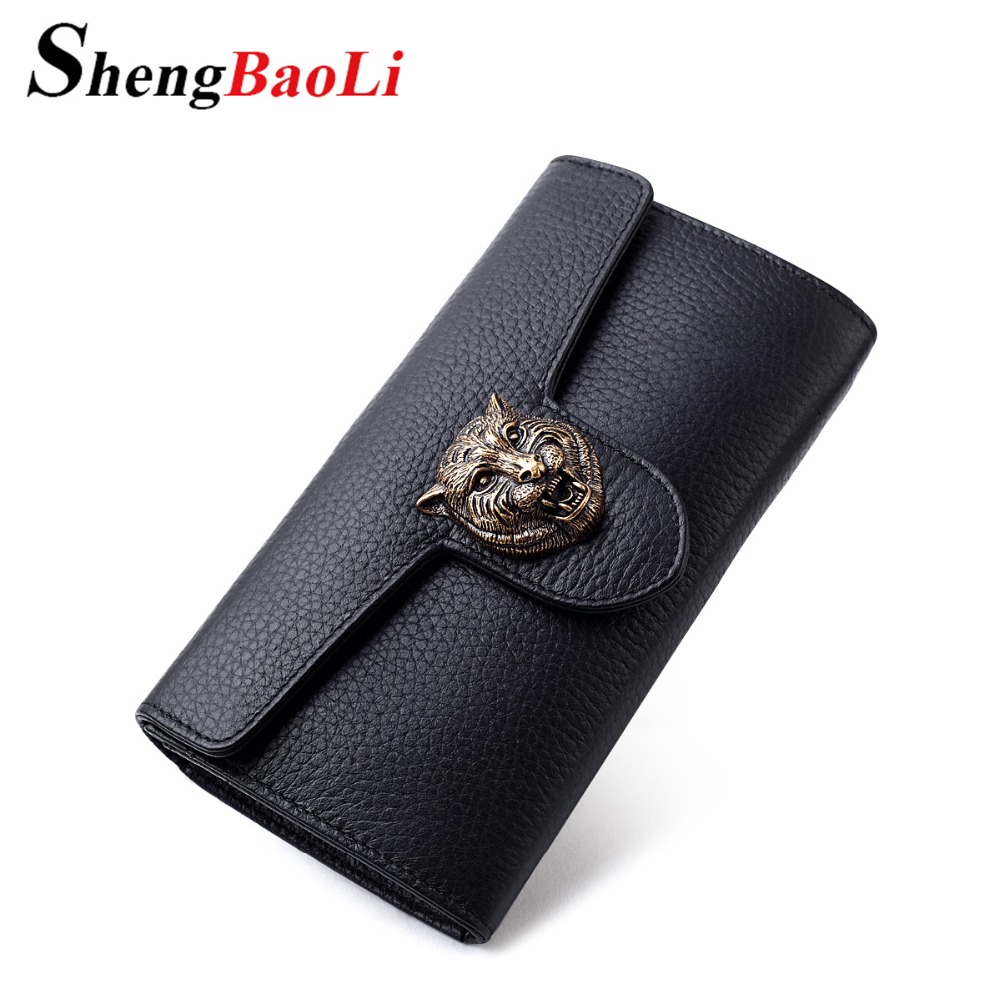 ФОТО Shengbaoli Real Genuine Leather Women Wallets Brand Design High Quality 2017 Cell phone Card Holder Long Lady Wallet Purse Clutc