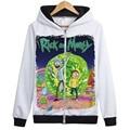 Creative 3D Печати футболка Рик Морти и Мужчин с капюшоном Характер Моды Одежда с капюшоном пальто с застежкой-молнией