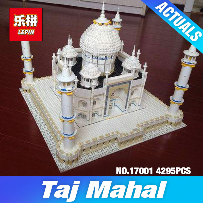 New LEPIN 17001 4295pcs The Tai Mahal Model Building Kits Brick Toys Compatible  10189 Gift Educational Children Day's DIY Gift lepin17001 city street tai mahal model building blocks kids brick toys children christmas gift compatible 10189 educational toys
