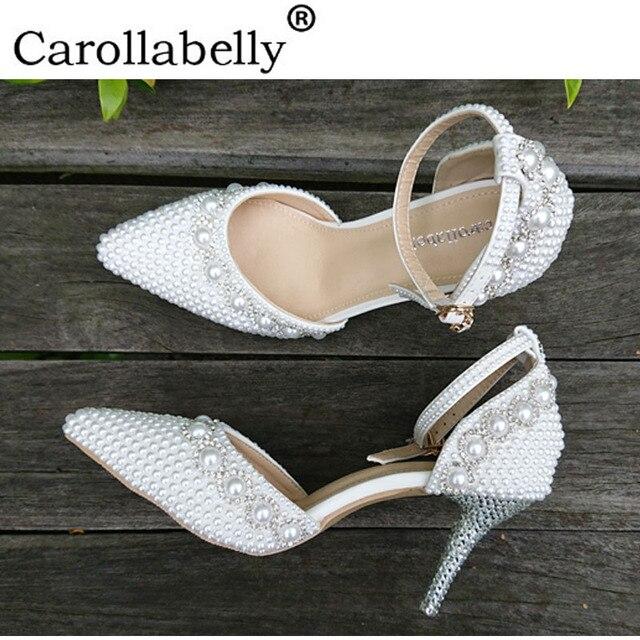 4c46093431 Sapatos de Casamento strass Para As Mulheres Novo Design sapatos de Salto  Alto Sapatos de Mulher