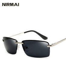 NIRMIA New Men's Polarized Sunglasses Metal Frame Night Vision Car Driving Sun G