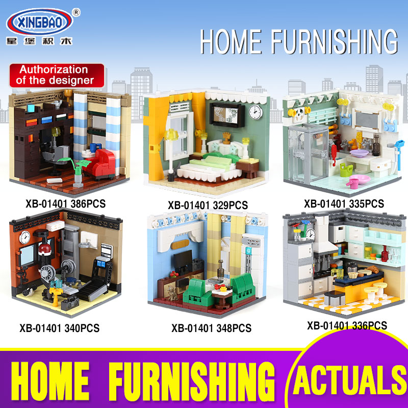 X Models Building toy Compatible with Lego X01401 2116PCS Living House Blocks Toys Hobbies For Boys Girls Model Building Kits
