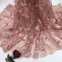 precious 2018 High Quality beads African Lace Fabric French Net Embroidery Tulle Lace Fabric For Nigerian party jya204
