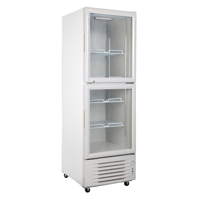288l Glass Display Showcase Beer Soda Beverage Cooler 2 Door