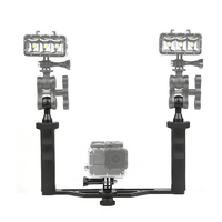Camera Handheld Stabilizer Aluminum Alloy Diving Photography Double Handle NK Shopping