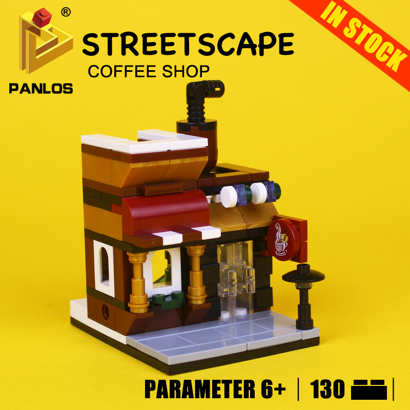 Creative STREETSCAPE COFFEE SHOP Blocks Educational DIY Bricks for kids Compatible With lego city Model Building Toys hobbies