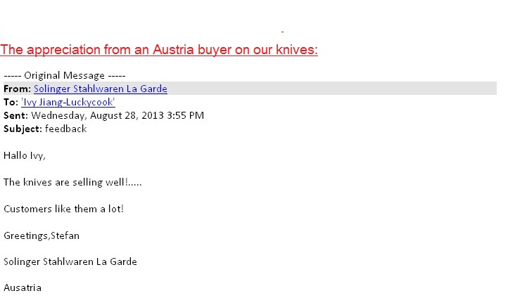 Austria client\'s feedback -2013