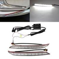 2 Pcs DC 12V Car LED DRL Daytime Running Light Driving 6000K Fog Lamp For KIA
