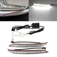 2 Pcs DC 12V Car LED DRL Daytime Running Light Driving 6000K Fog Lamp For KIA