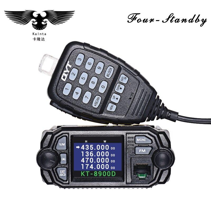 QYT KT-8900D 25 w Monté Sur Véhicule Radio Bidirectionnelle Mise À Niveau KT-8900 Mini Mobile Radio Avec Quadri-Bande Grand ÉCRAN LCD QYT KT8900D