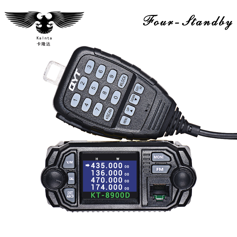 QYT KT-8900D 25W Vehicle Mounted Two Way Radio Upgrade KT-8900 Mini Mobile Radio With Quad Band Large LCD QYT KT8900D