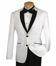 2018 White Groom Tuxedos Men Wedding Suits Jacket Groomsmen Custom