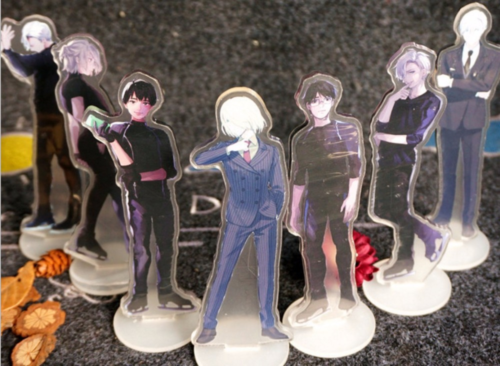 Anime YURI ON ICE  Acrylic Stand Model Toys Acrylic Action Figure Accessory  Pendant collection 15cm double-side удочка зимняя swd ice action 55 см