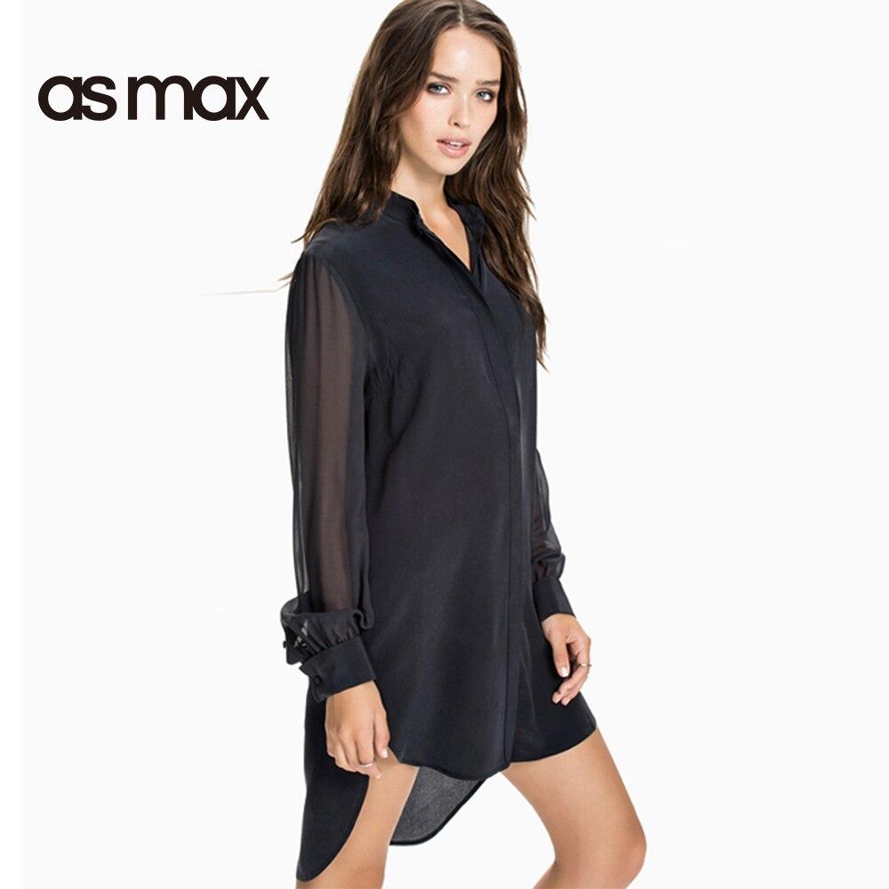Popular Black Sheer Button Blouse-Buy Cheap Black Sheer Button ...