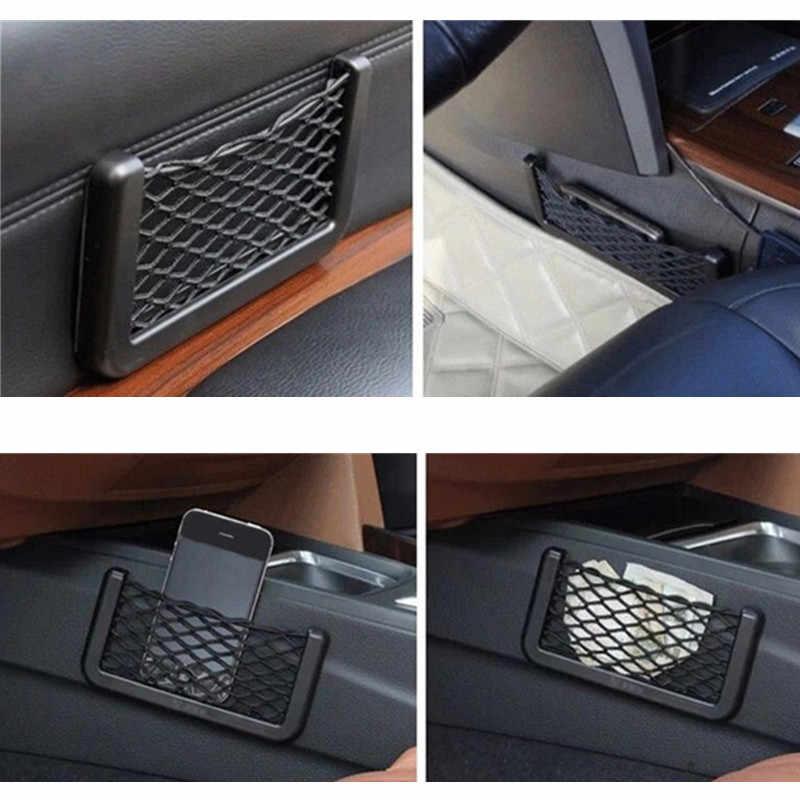 اكسسوارات حقيبة بتصميم شبكة تخزين السيارة ملصق خاص لفورد فوكس 2 فييستا مونديو MK4 ترانزيت فيوجن كوغا رينجر مسند الذراع موستانج