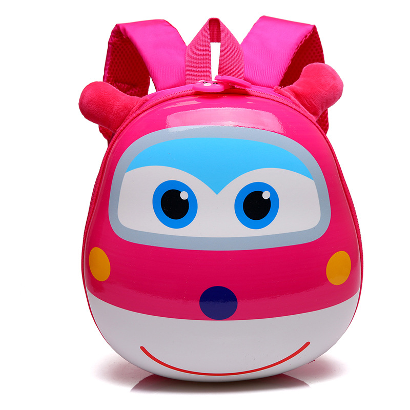 2017-new-Super-Wings-Cute-Kid-School-bags-Cartoon-Character-3D-Style-Children-Backpacks-Kindergarten-girls-boys-baby-backpack-1