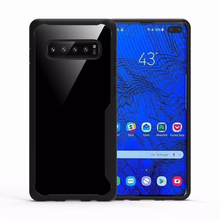 For Samsung Galaxy S10 Case Soft Silicone+Transparent PC Armor Protect Back cover Case for Samsung S10 Plus Cover shell S10 Lite