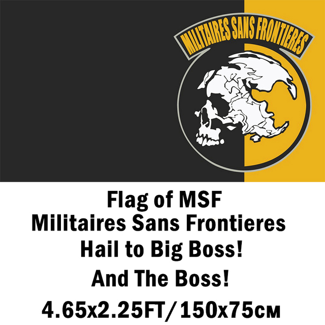 metal gear solid peace walker msf flag big boss's militaires sans