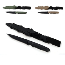 Outdoor army military tactical knife for war game paintball airsoft soft plastic knife for cosplay
