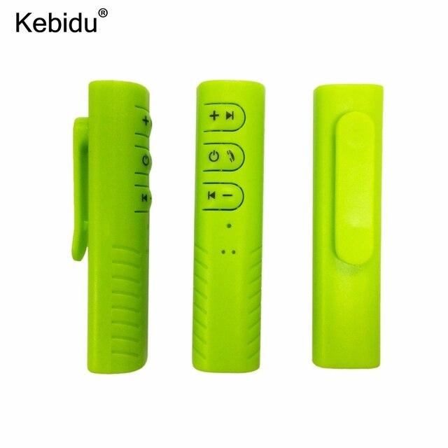 Kebidu מיני אלחוטי Bluetooth מקלט 3.5mm שקע Bluetooth אודיו מוסיקה מתאם עם מיקרופון עבור אוזניות רמקול