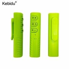 Kebidu Mini receptor Bluetooth inalámbrico con conector de 3,5mm, adaptador de Audio y música con Bluetooth y micrófono para altavoz y auriculares