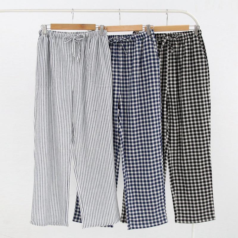 ladies pajamas pants sleeping pijamas cotton pants night pants for women Spring, summer and autumn Couple trousers