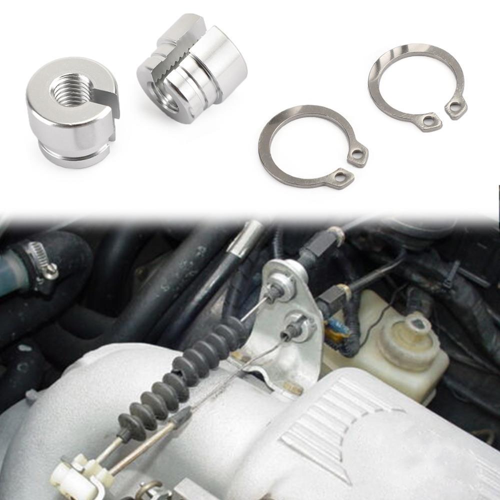 Areyourshop Billet Aluminum Throttle Bushing For BMW E30 E34 E28 E39 E36 M20 M30 M50 S14 M60 Throttle Cables Bushings Car Parts
