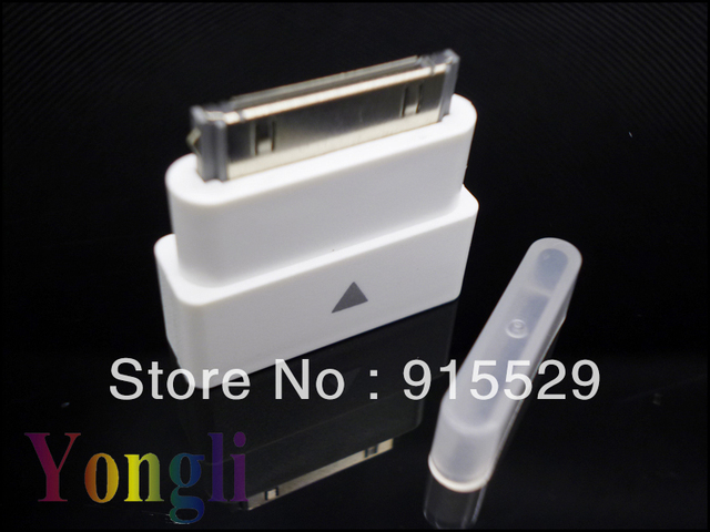 100pcs/lot~~~In Stock~~~ Factory Supplier 30 Pin Dock Extender Adapter Male to Female For iPhone 4/4s