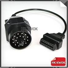 Прямая поставка 10 шт./лот для BMW 20Pin штыревой к 16Pin гнездовой OBD 2 кабель автомобильный диагностический Соединительный адаптер инструмент каб...