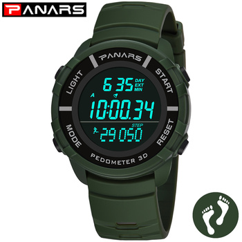 PANARS Sport Watch Men Digital Watches Electronic Wristwatch Mens Alarm Male Clock Chronograph Fitness Watch LED Display Watchs
