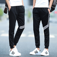 Brand Men joggers Spring Summer Linen Cotton Trousers Cool Long Pants Men Solid Elastic Natural sweatpants Pants