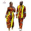 2017 Новых Любителей Женская Мужская Африканских Одежды Два Комплекта Совпадающие Пары Африканских Одежда С Длинным Рукавом Одежда Пара BRW WYQ11