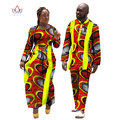 2017 New Lovers Womens Mens African Clothing Two Sets Matching Couples African Clothes Long Sleeve Clothes Couple BRW  WYQ11