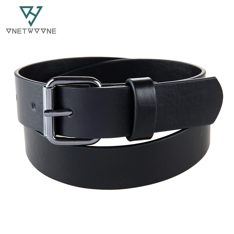 High Grade Children PU Waist Belts Boys Students Jeans pu Leather Belt Strap Black Pin Buckle Teens Children Kids Hole Belt