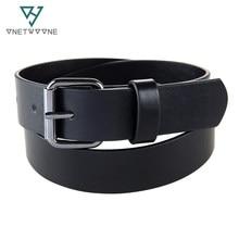 8831f0f49628 Niños de alto grado PU cinturones chicos estudiantes Jeans pu cuero negro  Correa hebilla adolescentes niños agujero cinturón
