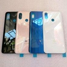 الأصلي جديد 3D الزجاج ل mi 8 غطاء البطارية حالة قطع الغيار ل شياو mi mi 8 mi 8 البطارية الغطاء الخلفي الباب هيكل للهاتف حالة