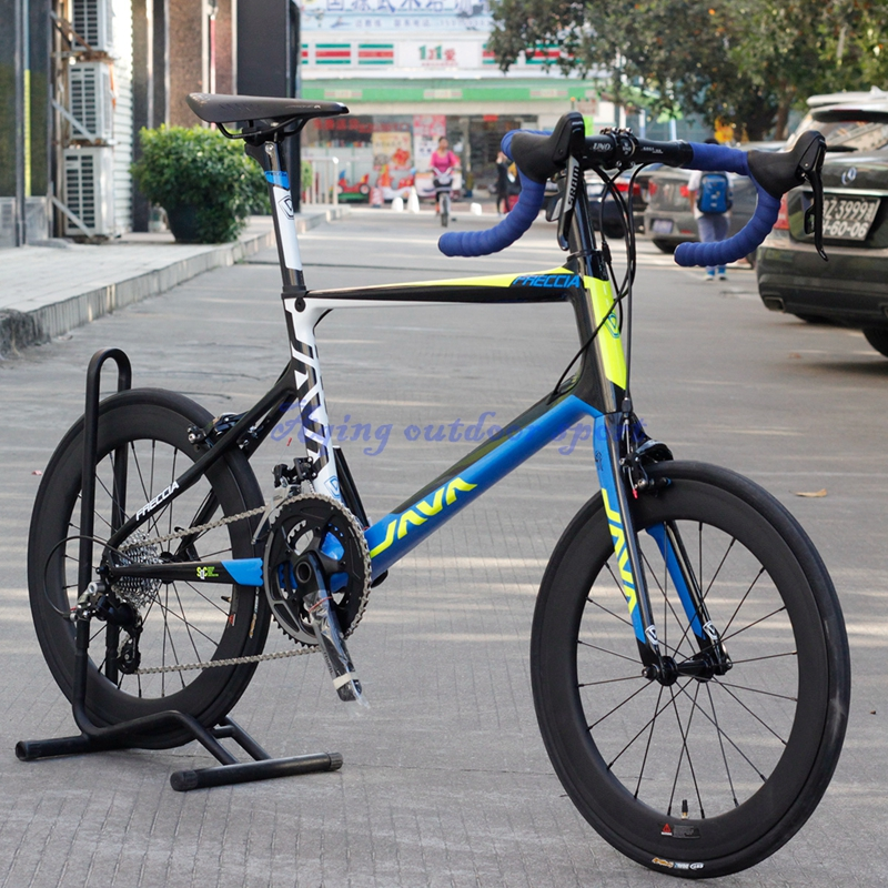 JAVA Freccia 20 inch 451 Carbon Mini Velo Bike 20 1 1/8 Minivelo Bicycle With S R A M  RIVAL Group 22 speed Caliper Brakes freccia w15081307918