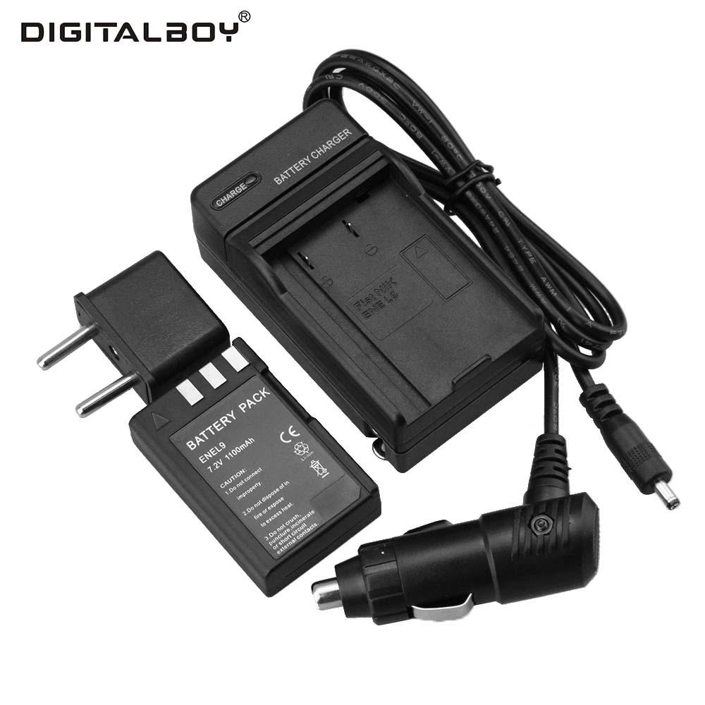 1pcs Battery + Charger 7.2V 110mAh EN-EL9 EN EL9 ENEL9 Rechargeable Camera Battery For Nikon EN-EL9a D40 D40X D60 D3000 D5000 зарядное устройство для фотокамеры oem mh 23 nikon en el9 d5000 d3000 d60 d40 d40x d5000 dslr d40 10 mh 23