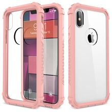 Full-Body Rugged Clear Bumper Case for iPhone X XS with Shock Absorption Soft TPU Bumpe Cover Cover for iPhoneXS X Phone case ultrathin shock absorption bumper tpu clear case for iphone 5 5s se