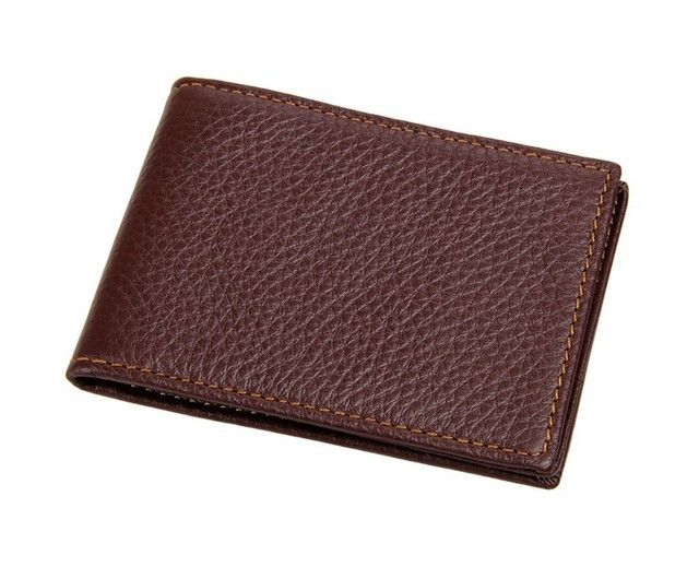 JMD Men's 100% Cow Leather Bifold Credit/ ID Case Card Holder 7169R-4