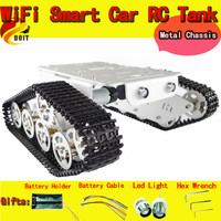DOIT RC Metal Tank Car Chassis Walle Caterpillar Crawler Wall e Large load Robot Car Toy Metal Structure DIY RC Tank Chassis