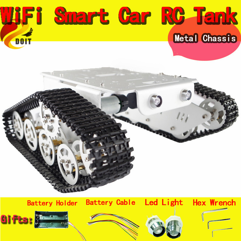 Official DOIT RC Metal Tank Car Chassis Walle Caterpillar Crawler Wall-e Large load Robot Car Toy Metal Structure DIY RC Toy doit cool and new 6wd robot smart car chassis big load large bearing chassis with motor 6v150rpm wheel skid diy rc toy