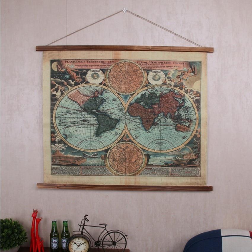 Betere Americal Industriële stijl retro linnen doek tapijt 106*86 cm YE-84